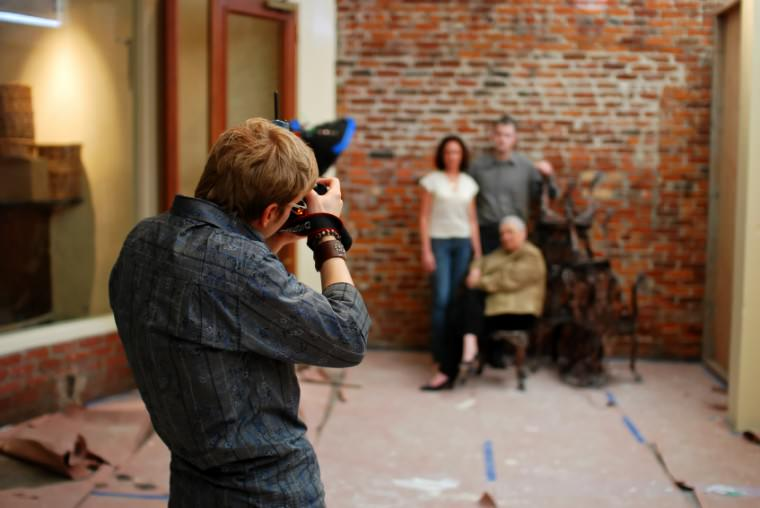 Photographing business owners